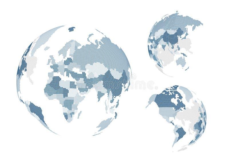 Punktierte Weltkarte stock abbildung
