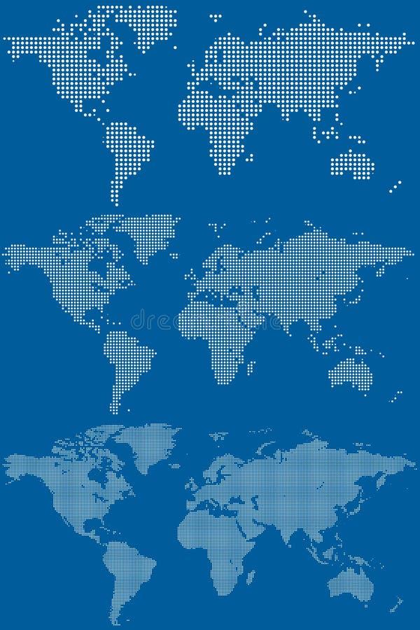 Punktierte Weltkarten stock abbildung