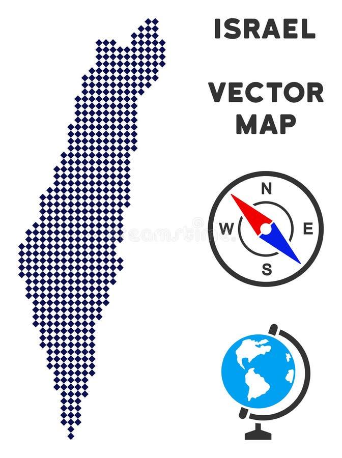 Punktierter Israel Map vektor abbildung