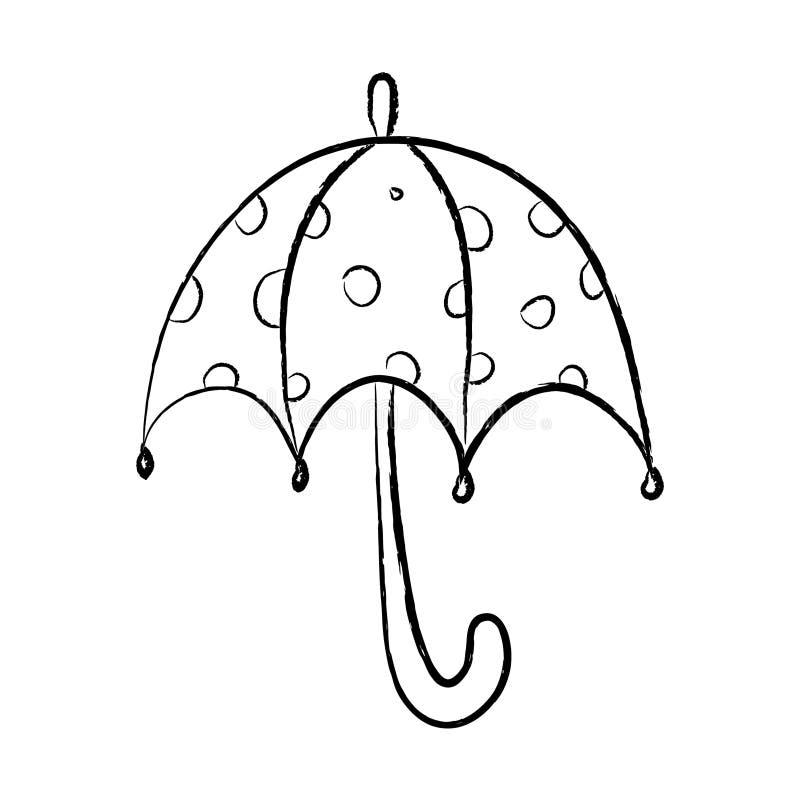 Punktierter Schwarzweiss-Regenschirm lizenzfreies stockbild