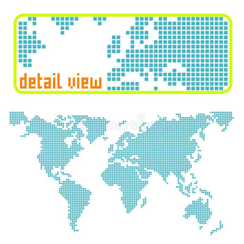 Punktierter Weltvektor lizenzfreie abbildung