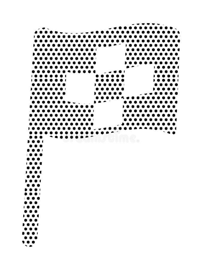 Punktiertes Muster-Bild einer Zielflagge stock abbildung