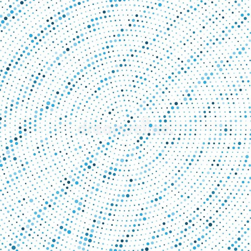 Punktiertes Muster des abstrakten runden Halbtons vektor abbildung