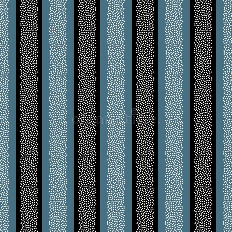Punktiertes nahtloses Muster des Streifenvektors Abstrakte Punktbeschaffenheit für Oberflächendesigne, Gewebe, Packpapiere, Tapet stock abbildung