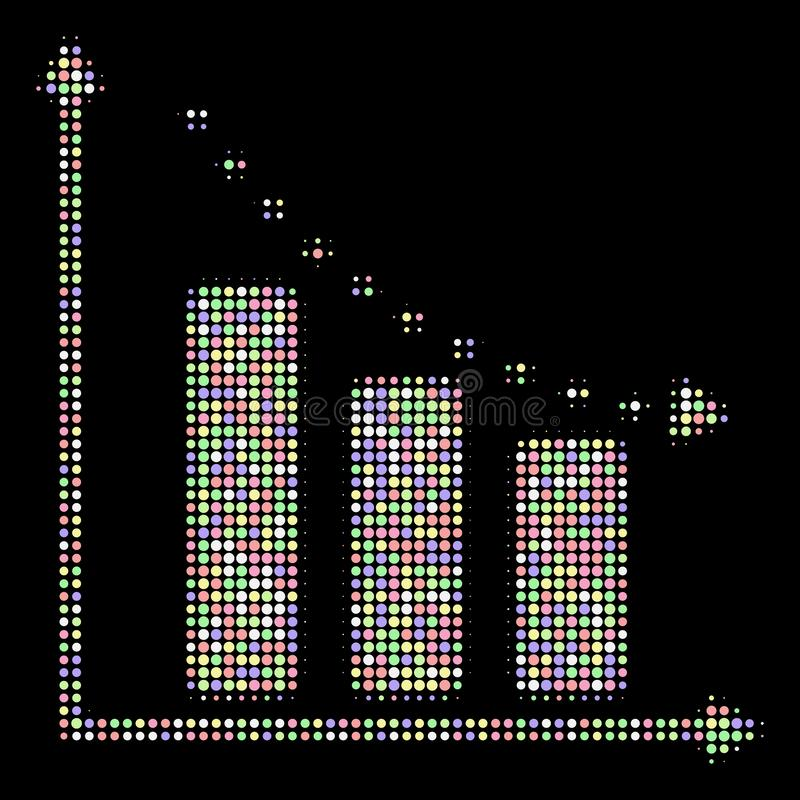 Punktiertes negative Tendenz-Halbtonmosaik von Kreisen lizenzfreie abbildung