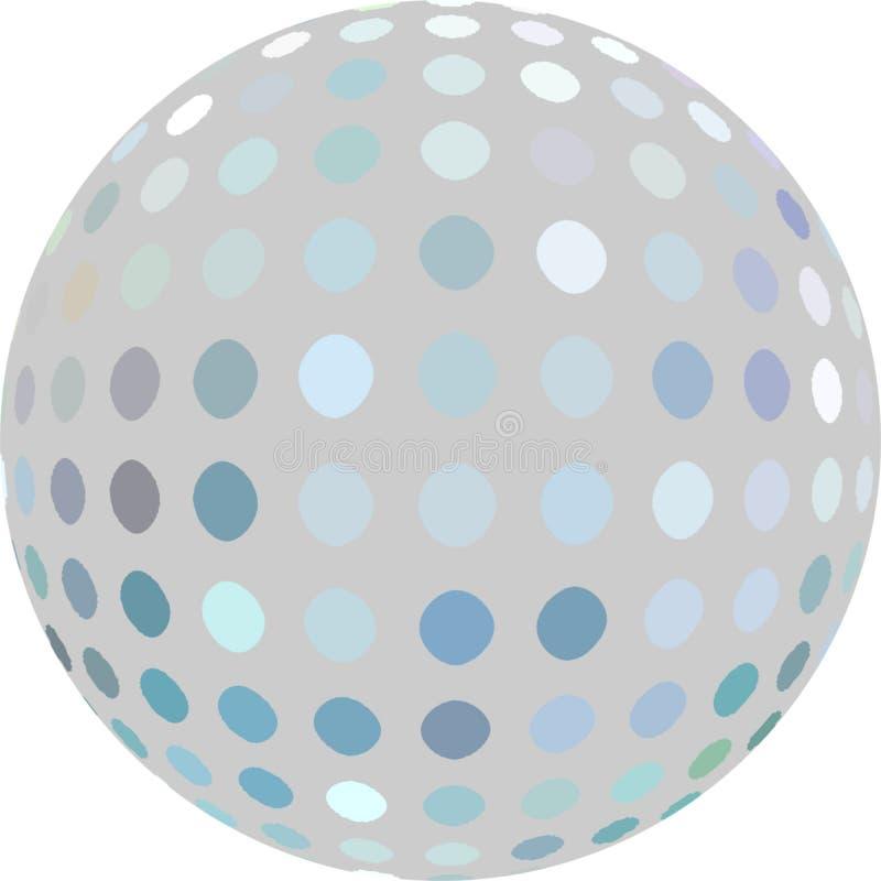 Punktmosaik des Mosaiks der Kugel 3d graues blaues weißes stock abbildung