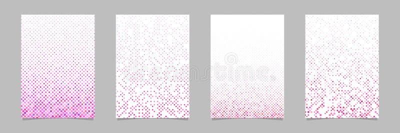 Punktmuster-Broschürenentwurfssatz - Vektorbriefpapier-Hintergrundsammlung vektor abbildung