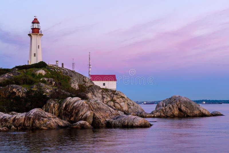 Punktu Atkinson latarnia morska, Zachodni Vancouver, Kanada fotografia stock