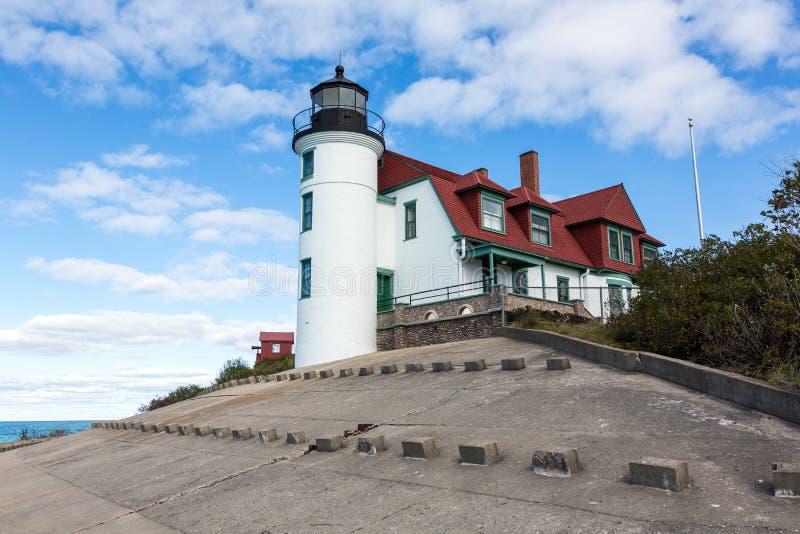 Punktu Betsie latarnia morska, Frankfort Michigan fotografia stock