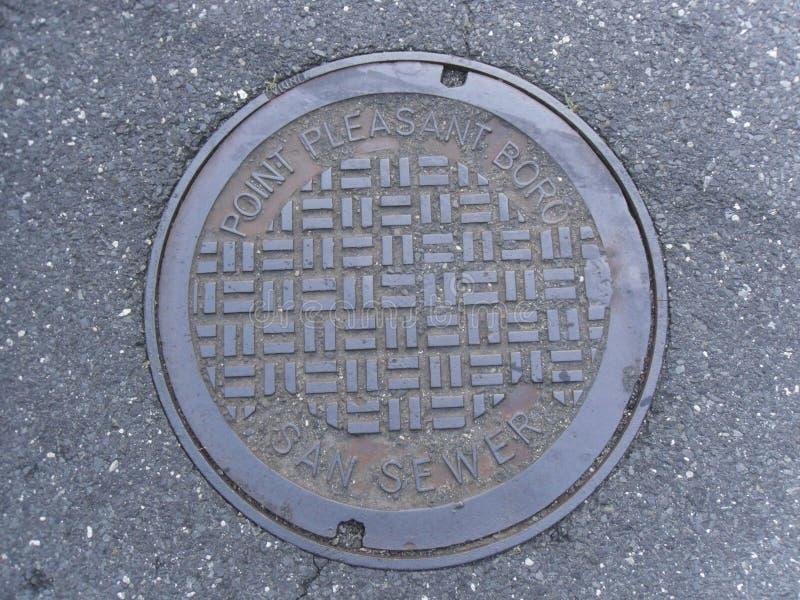 Punktu Boro manhole Przyjemna pokrywa obrazy stock