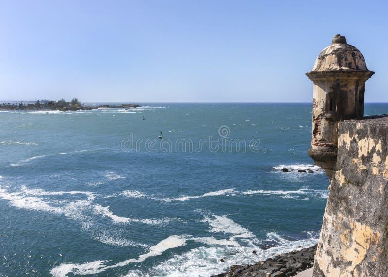 Punktu obserwacyjnego basztowy dopatrywanie wejście zatoka zdjęcie stock