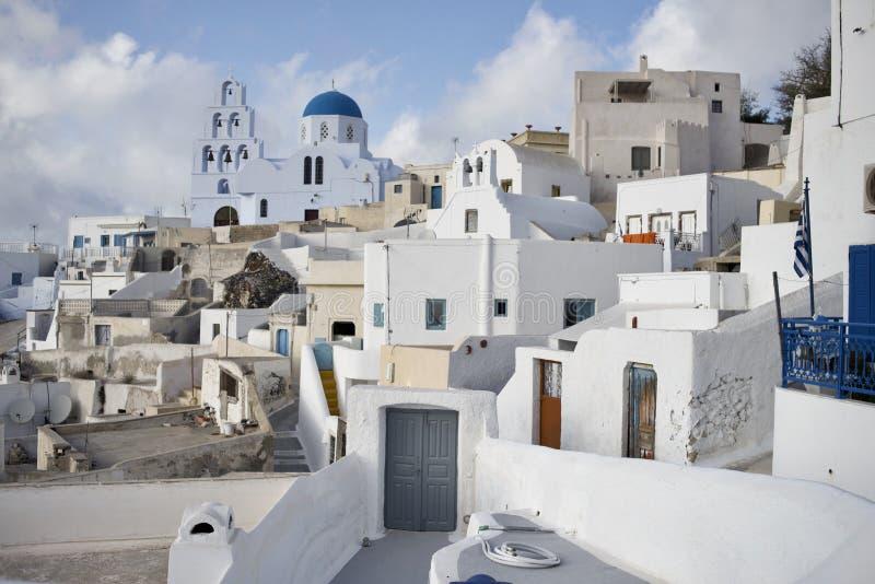 Punktu obserwacyjnego widok Santorini wyspy Grecja zdjęcia stock
