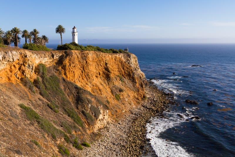 Punktu Vincente latarnia morska przy Palos Verdes obraz royalty free