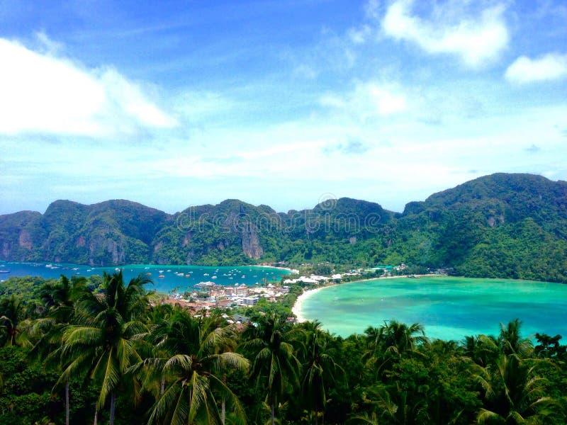 Punktu widzenia Koh Phi Phi Tajlandia zdjęcia royalty free