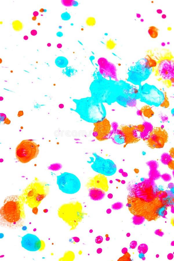 Punkty i plamki farby akrylowej dla tła obrazy royalty free