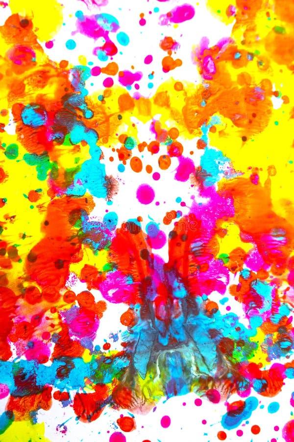 Punkty i plamki farby akrylowej dla tła fotografia stock