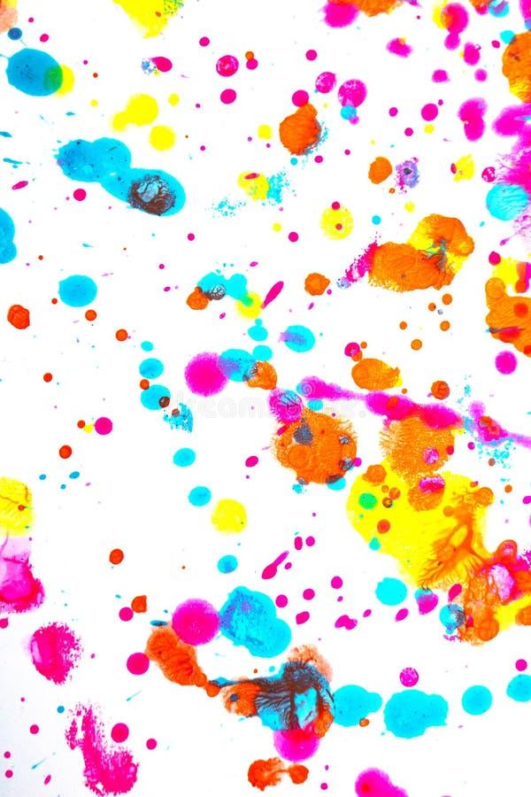 Punkty i plamki farby akrylowej dla tła zdjęcie royalty free
