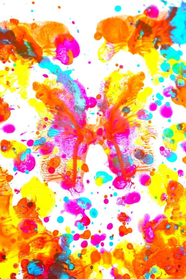 Punkty i plamki farby akrylowej dla tła zdjęcie stock