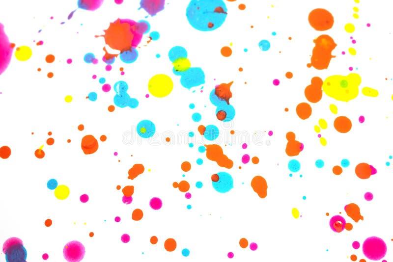 Punkty i plamki farby akrylowej dla tła zdjęcia stock
