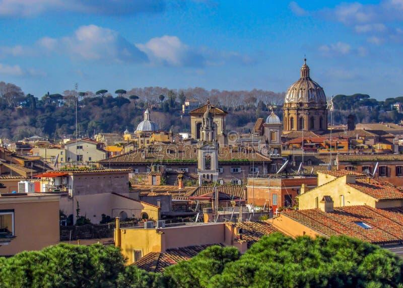 Punkty zwrotni i historyczne ruiny w Rzym, Włochy zdjęcia royalty free