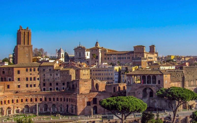 Punkty zwrotni i historyczne ruiny w Rzym, Włochy zdjęcie stock
