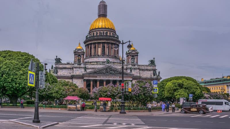 Punkty zwrotni Petersburg, Rosja w Tsarskoe Selo Aleksander ogr?d fotografia royalty free