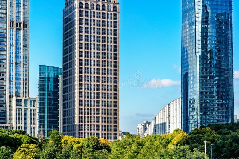 Punkty zwrotni Szanghaj, grupa nowożytni biznesowi budynki zdjęcia stock