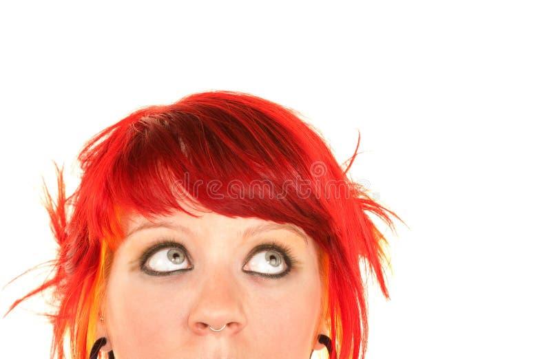 punky κόκκινο τριχώματος κορ&iota στοκ φωτογραφίες με δικαίωμα ελεύθερης χρήσης