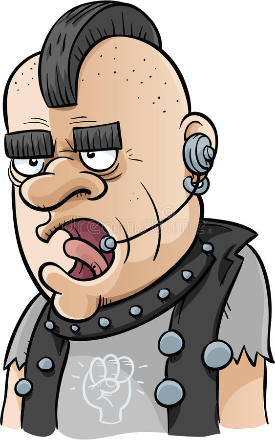Punky del centro de atención telefónica ilustración del vector