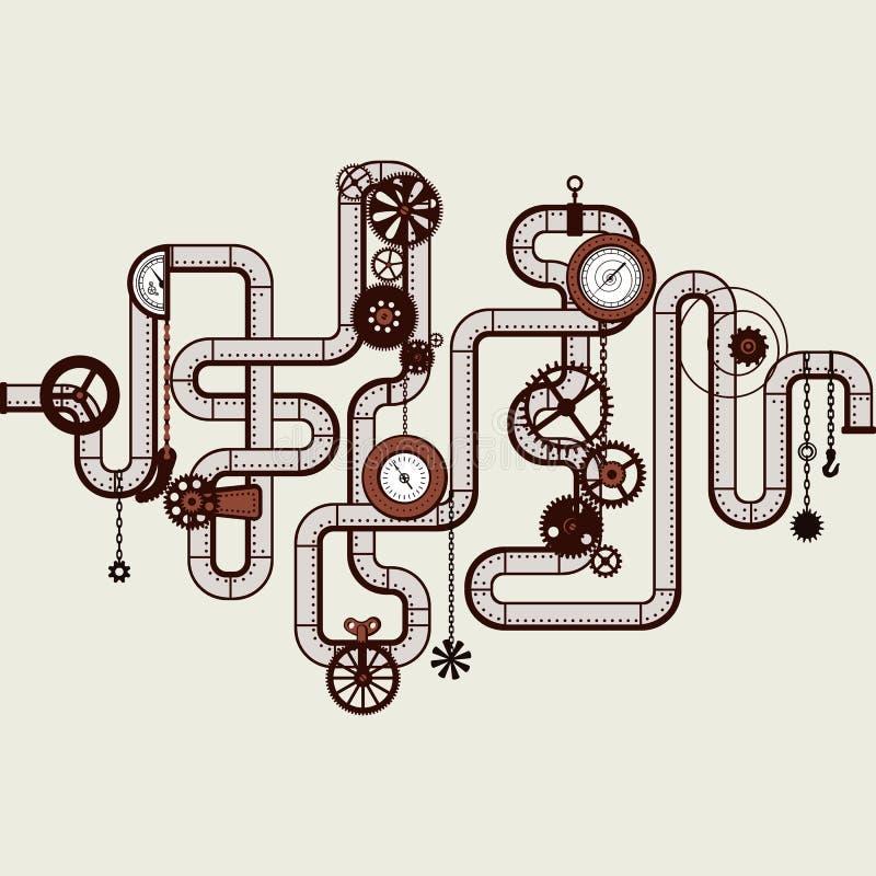 Punky del vapor stock de ilustración