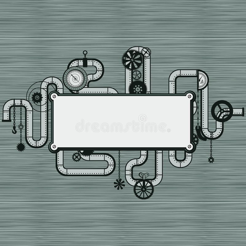 Punky del vapor ilustración del vector