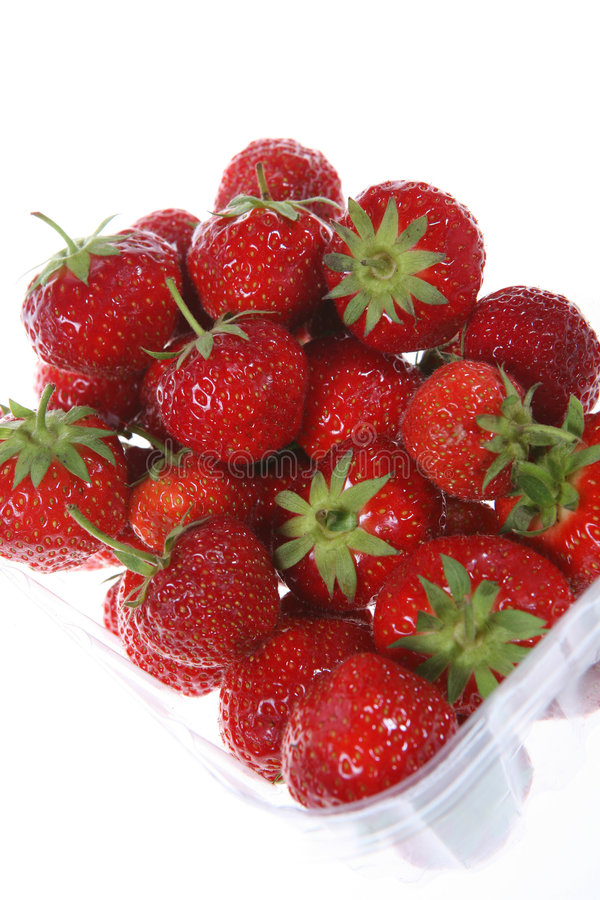 Punnet of Strawberries royalty free stock images