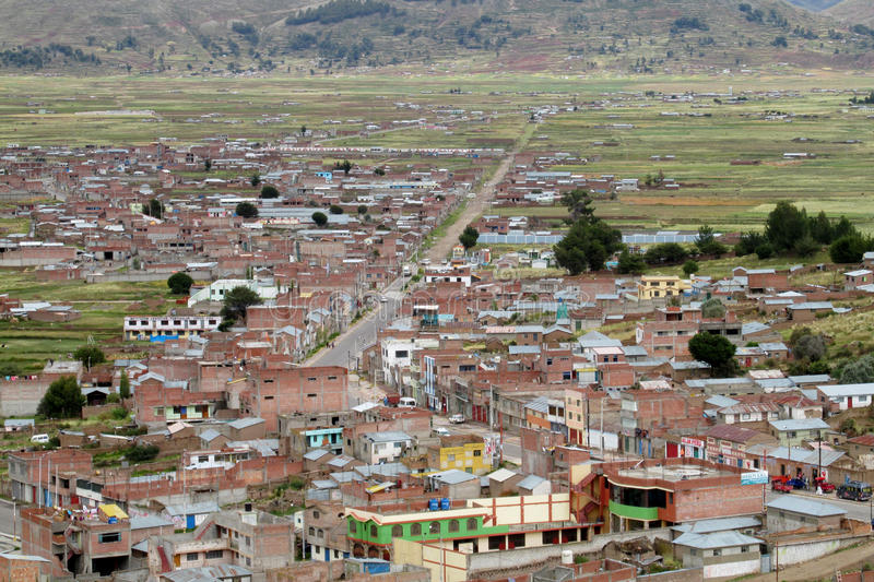 Puno city in Peru royalty free stock images