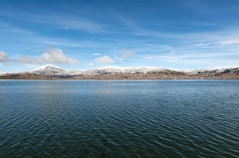 Puno en la nieve, lago Titicaca, Perú imágenes de archivo libres de regalías