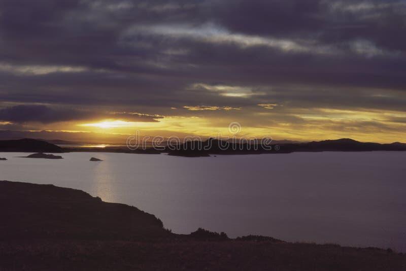 Puno, lago Titicaca fotografía de archivo