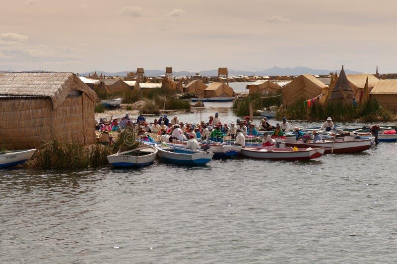 Puno, lago Titicaca foto de archivo