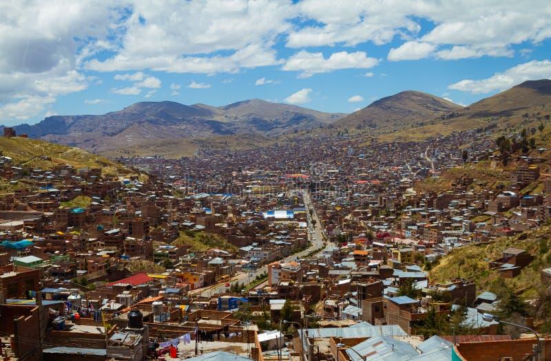 Puno Miasto Peru Titikaka jezioro fotografia royalty free