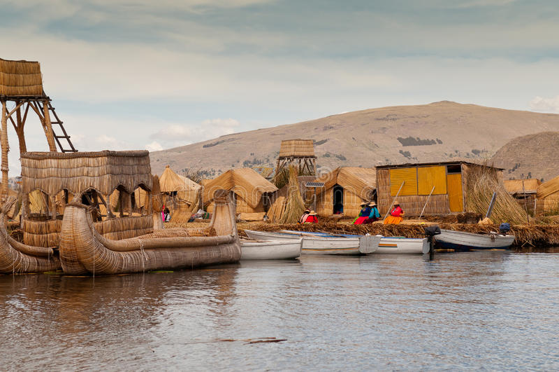 Puno Titicaca sjö arkivbild