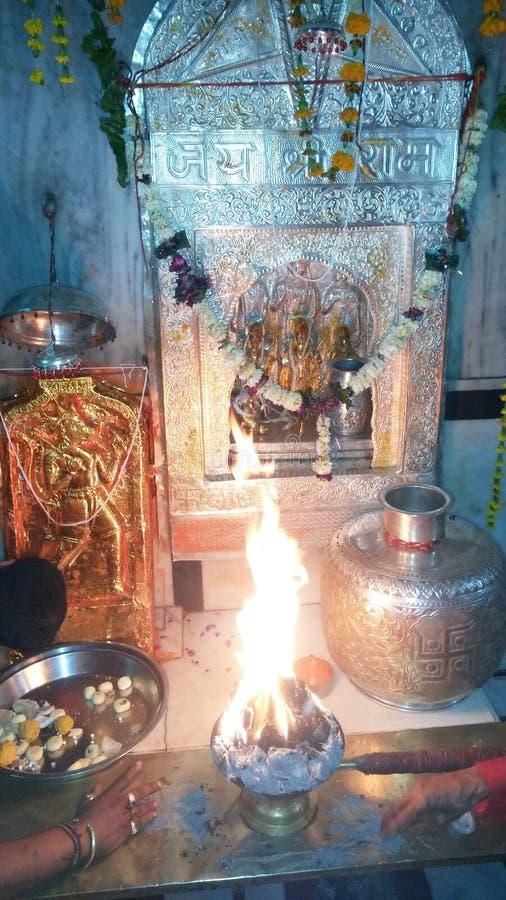 PUNRASAR DHAM哈奴曼寺庙图片 免版税库存照片
