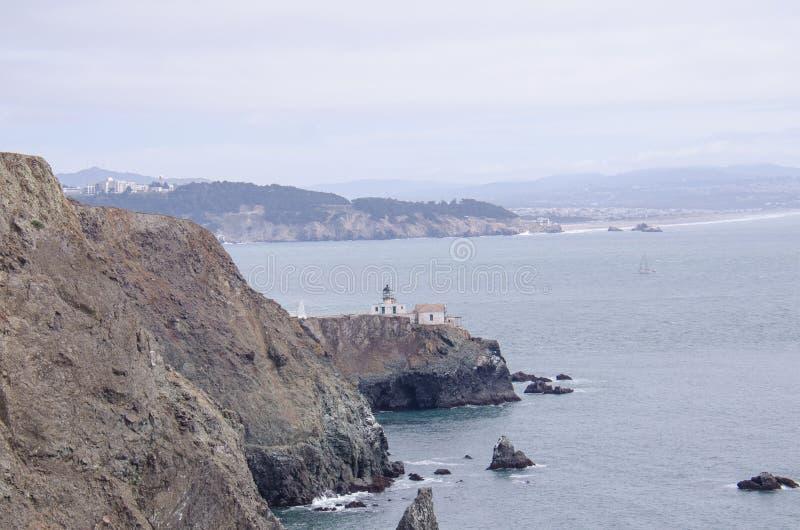 Punt Bonita Lighthouse in Marin County, enkel buiten San Francisco stock afbeeldingen