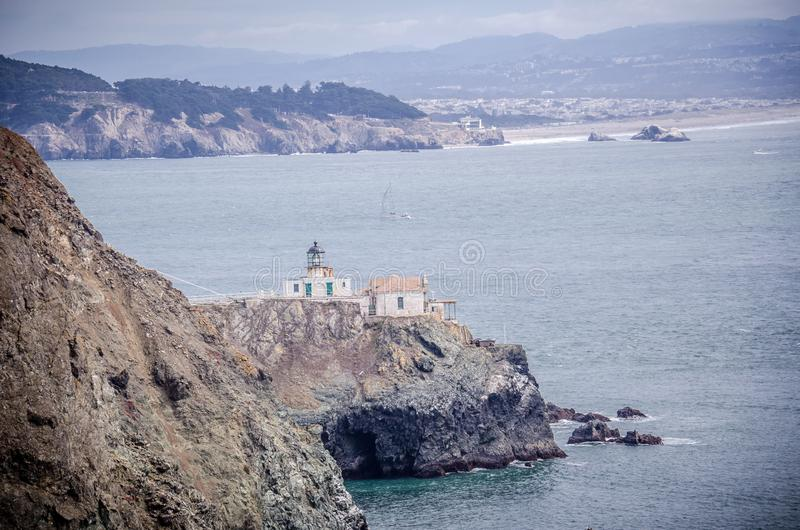 Punt Bonita Lighthouse in Marin County, enkel buiten San Francisco royalty-vrije stock afbeelding