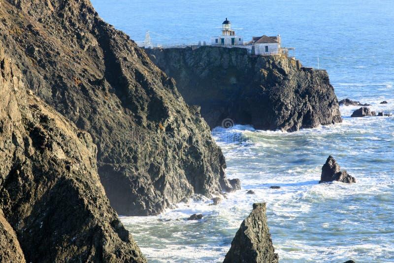 Punt Bonita Lighthouse in Marin Headlands royalty-vrije stock foto's