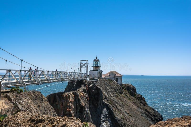 Punt Bonita Lighthouse, San Francisco Bay, Californië stock afbeelding