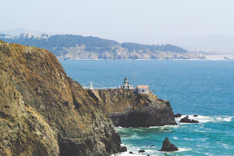 Punt Bonita Lighthouse, San Fransisco, Californië stock foto