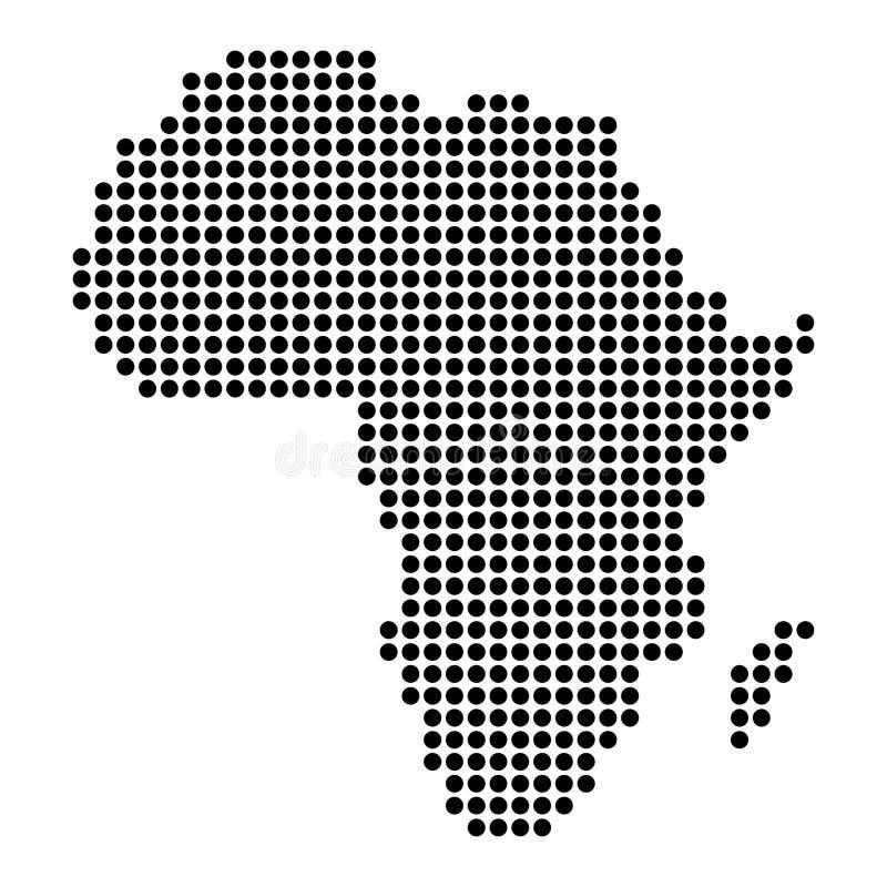 Punt - de Gestippelde Kaart van Afrika vector illustratie
