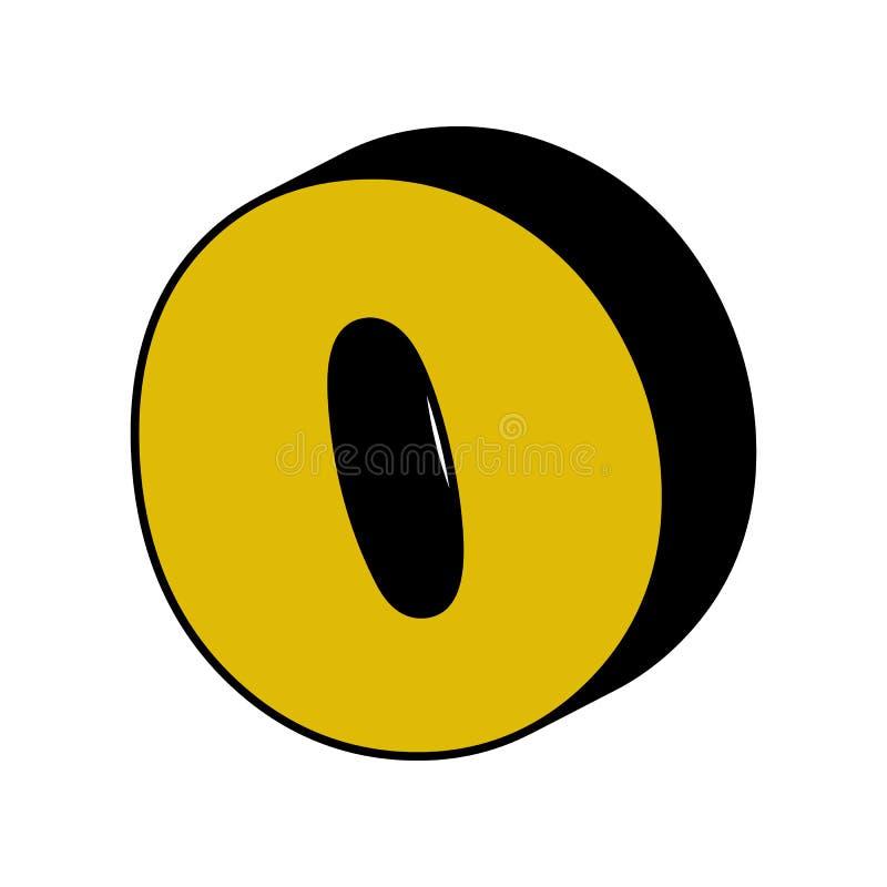 punt, komma, 3D pictogram Element van 3D kleurenalfabet voor mobiele concept en webtoepassingen De gedetailleerde punt, komma, 3D stock illustratie