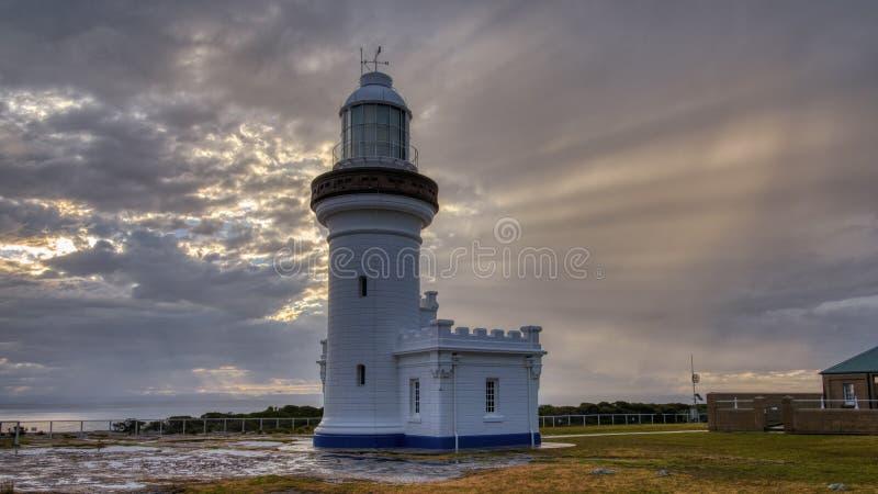 Punt Loodrecht Licht in de Beecroft-Wapenwaaier in Jervis Bay, NSW, Australi? royalty-vrije stock foto