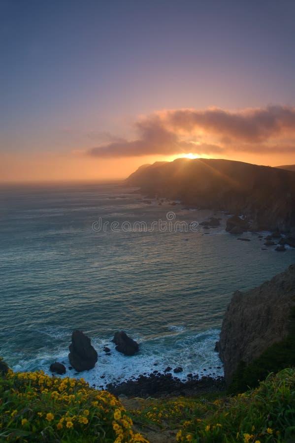 Punt Reyes Sunset royalty-vrije stock afbeelding