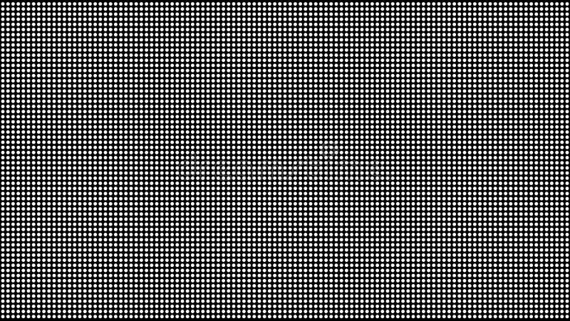 Punt RGB Vector Als achtergrond televisie Grunge halftone punten Pigment dicht Zwart-wit Dot Screen Illustratie stock illustratie