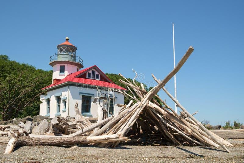 Punt Robinson Lighthouse royalty-vrije stock afbeeldingen